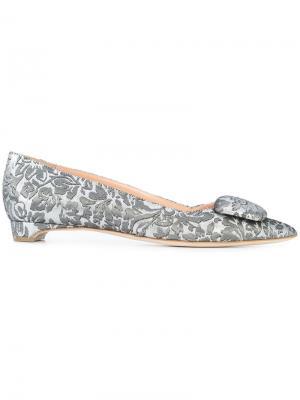 Балетки с заостренным носком Rupert Sanderson. Цвет: серый