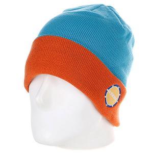 Шапка  Park Beanie Blue/Orange Armour. Цвет: голубой,оранжевый