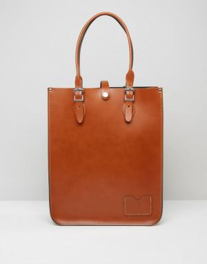 Leather Satchel Company Классическая сумка-тоут. Цвет: рыжий