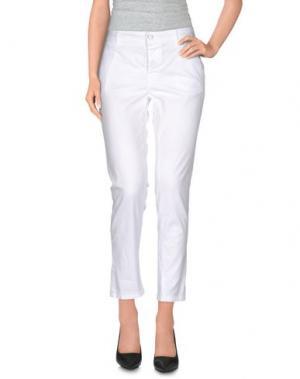 Повседневные брюки PRIVE' ITALIA. Цвет: белый