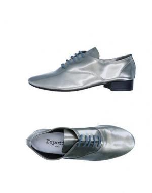 Обувь на шнурках REPETTO. Цвет: платиновый