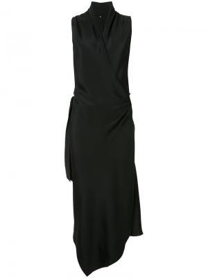 Платье с запахом Victor Peter Cohen. Цвет: чёрный