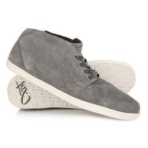 Кеды кроссовки высокие  Lp Le Grey/White suede K1X. Цвет: серый
