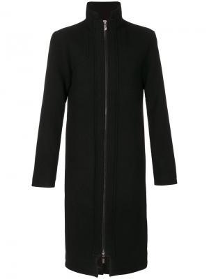 Пальто с высокой горловиной на молнии D.Gnak. Цвет: чёрный