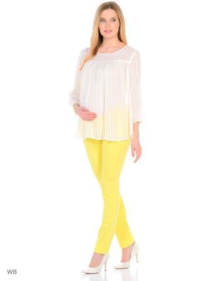 Блузка EUROMAMA. Цвет: молочный