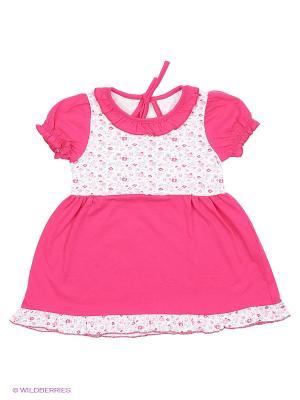 Платье Апрель. Цвет: фуксия, розовый, белый