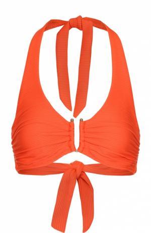 Бра с широкими лямками и декоративной отделкой Heidi Klein. Цвет: оранжевый