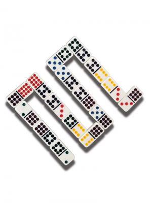 Игра настольная  Домино Classic. Цвет: черный, синий, красный, желтый, белый