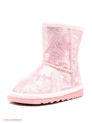 Угги Зебра. Цвет: розовый, серебристый