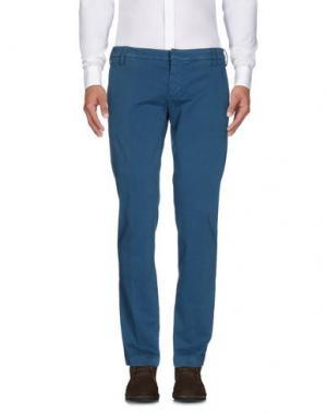 Повседневные брюки ENTRE AMIS. Цвет: цвет морской волны