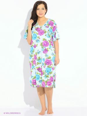 Ночная сорочка Vienetta Secret. Цвет: бирюзовый