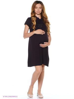 Платье для беременных 40 недель. Цвет: темно-фиолетовый