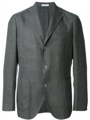 Спортивный пиджак в клетку Boglioli. Цвет: серый