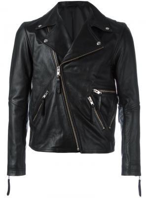 Байкерская куртка на молнии Public School. Цвет: чёрный