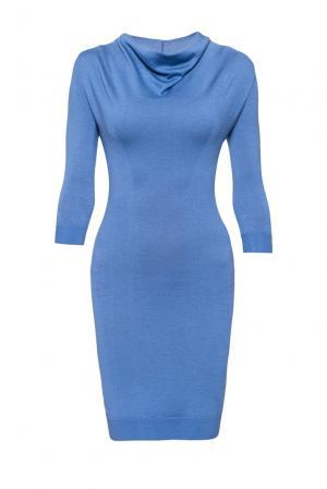 Платье из шерсти 172947 Andre Maurice. Цвет: синий