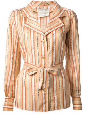 Полосатая рубашка Emanuel Ungaro Vintage. Цвет: жёлтый и оранжевый