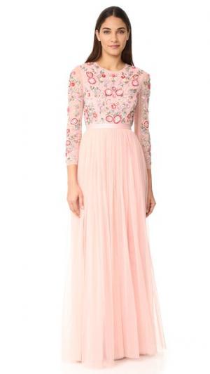 Вечернее платье Meadow Needle & Thread. Цвет: ярко-розовый