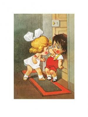 Плакат Старинная открытка Даринчи. Цвет: белый