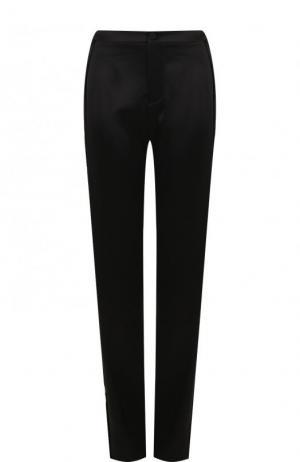 Широкие брюки с контрастными лампасами Lanvin. Цвет: черный