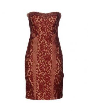 Короткое платье LIST. Цвет: красно-коричневый