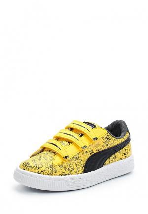 Кеды Puma. Цвет: желтый