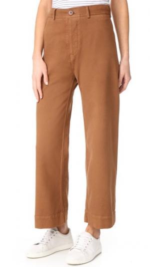 Широкие брюки Ryan с высокой талией Emerson Thorpe. Цвет: голубой