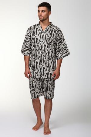 Пижама: брюки и кофта Maori. Цвет: бежевый