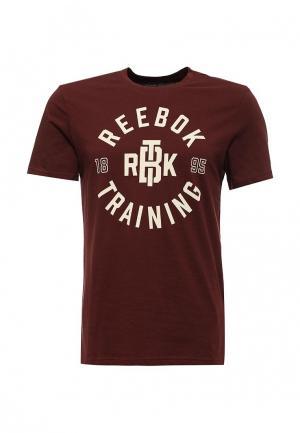 Футболка Reebok. Цвет: коричневый