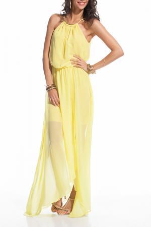 Платье L ADORE. Цвет: желтый
