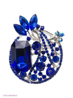 Брошь Royal Diamond. Цвет: синий