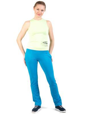 Спортивные брюки Diamond. Цвет: голубой