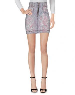 Джинсовая юбка JUST CAVALLI. Цвет: светло-серый