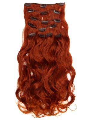 Накладные волосы, пряди на заколках-клипсах Lana VIP-PARIK. Цвет: красный