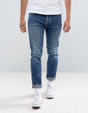 Nudie Jeans Джинсы скинни Co Tilted Tor Jean Shackled and Blue. Цвет: синий