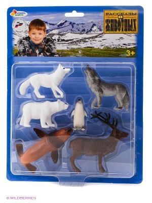 Набор из 6-и животных севера Играем Вместе 10см. Цвет: белый, коричневый, серый