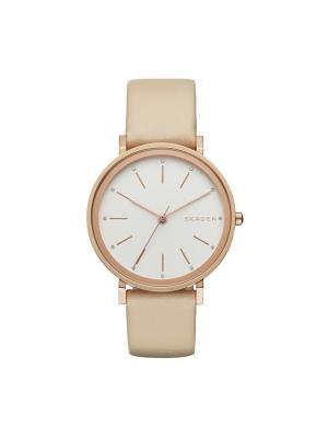 Часы SKAGEN. Цвет: бежевый, розовый, золотистый, белый