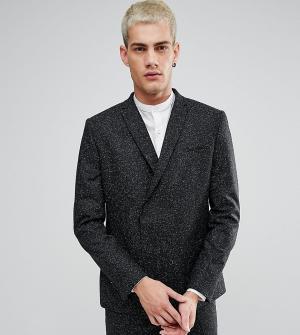 Noak Двубортный пиджак скинни. Цвет: черный