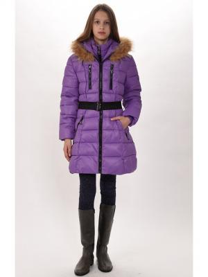 Пальто для девочек TOPKLAER. Цвет: сиреневый