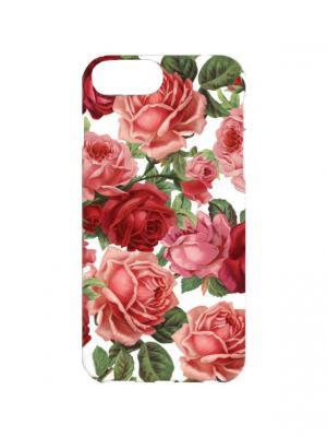 Чехол для iPhone 7Plus Садовые розы Арт.7Plus-273 Chocopony. Цвет: красный, белый, зеленый