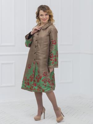 Летнее пальто Lus'en. Цвет: светло-коричневый