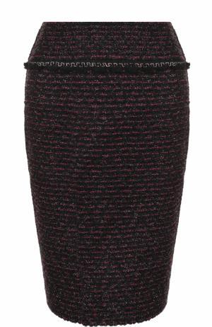 Буклированная юбка-карандаш St. John. Цвет: фиолетовый