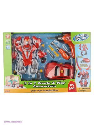 Робот трансформер Hap-P-Kid. Цвет: красный, серый
