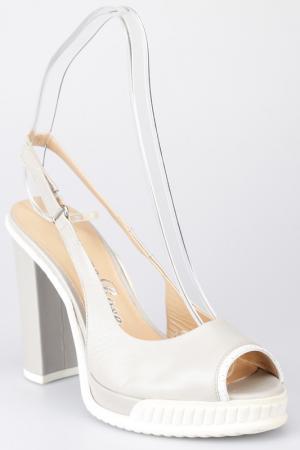 Босоножки на каблуках Giorgio Fabiani. Цвет: серый