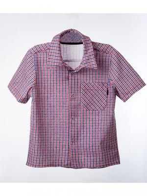 Рубашка  для мальчика ТОДЕКС. Цвет: синий, белый, красный