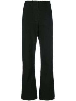 Расклешенные брюки Kristensen Du Nord. Цвет: чёрный