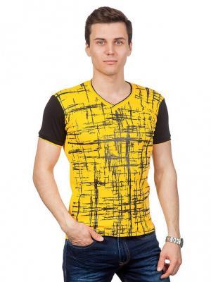 Футболки GLACIER. Цвет: желтый