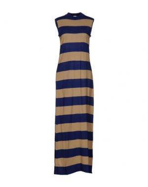 Длинное платье TENAX. Цвет: хаки