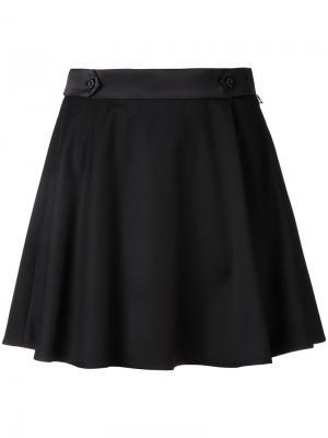 Расклешенная мини-юбка Loveless. Цвет: чёрный