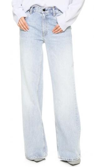 Широкие джинсы Rave Denim x Alexander Wang. Цвет: выбеленный голубой