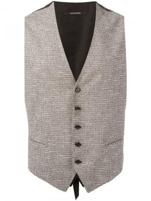 Brian waistcoat Tagliatore. Цвет: коричневый